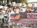 مظاهرة للروهنجيين في كوالالمبور أمام سفارة ميانمار