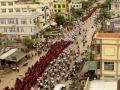 بوذيون في بورما يقومون بمظاهرات مناهضة ضد الأقلية الروهنجية في ميانمار