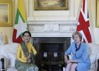 رئيسة وزراء بريطانيا تبحث مع أونغ سان سو تشي ملف حقوق الإنسا ...