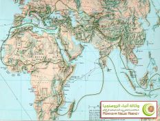 خريطة تبين مرور الخط الإسلامي على أراكان