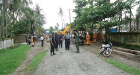Clashes between police and villagers in Maungdaw