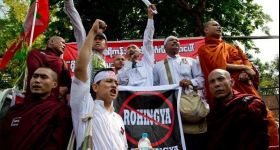 Protest in Myanmar targets US Embassy use of term 'Rohingya'