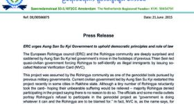 ERC urges Aung San Su Kyi Government to uphold democratic principles and rule of law