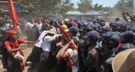 Dozens arrested in crackdown on Myanmar student protest