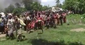 """بالفيديو ..معاناة مسلمي """"أراكان"""" ميانمار أثناء هروبهم من إضهاد البوذيين"""