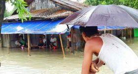 """أمطار موسمية وفيضانات تشهدها """"أراكان"""" وبورما (صور)"""