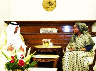 رئيسة الوزراء ووزير الخارجية في بنغلادش يستقبلان الأمين العام لمنظمة التعاون الإسلامي