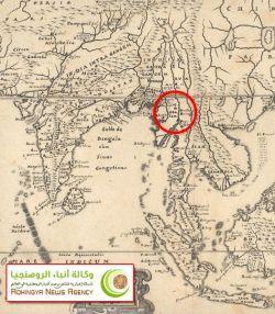 خريطة قديمة تبين وجود أراكان 3