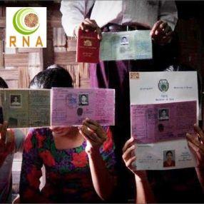 وثائق بورمية يحملها المواطنون الروهنجيون في أراكان