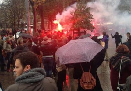 Anti-Muslim protests break out across France as tensions reach boiling point