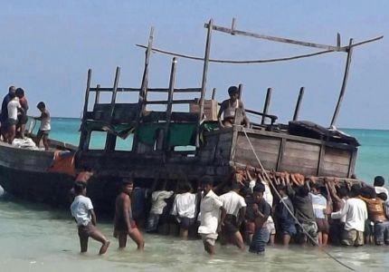 غرق مركب غرب بورما على متنه 100 من مسلمي الروهنجيا