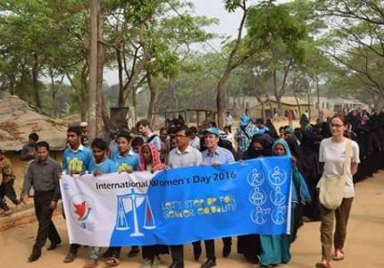 """مفوضية شؤون اللاجئين في """"كوكس بازار"""" نظمت مظاهرة اليوم العالمي للمرأة"""