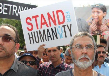 مظاهرة حاشدة في كندا احتجاجًا على الانتهاكات في أراكان