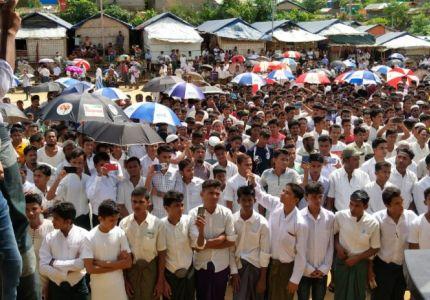 مئتا ألف من الروهينغا يحيون ذكرى مرور سنتين على نزوحهم إلى بنغلادش