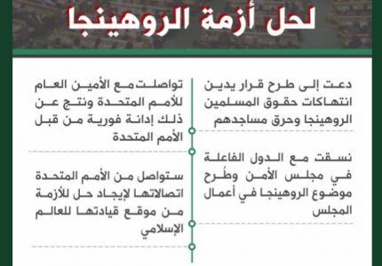 المملكة العربية السعودية تواصل جهودها لحل أزمة الروهينجا