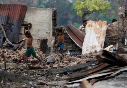هيومان رايتس: تدمير مزيد من قرى المسلمين الروهينغا غرب بورما