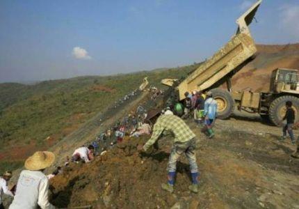 انزلاق للتربة قرب منجم في بورما والعثور على 11 جثة