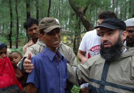 الشيخ نبيل العوضي يتفقد في مخيمات اللاجئين في بنجلاديش