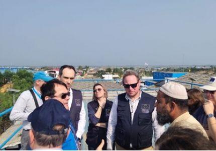 وفد من الاتحاد الأوروبي يزور مخيمات الروهنجيا في بنجلادش