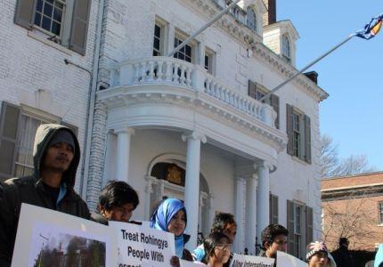 مظاهرات في واشنطن ضد معاملة الروهنجيا في بورما 
