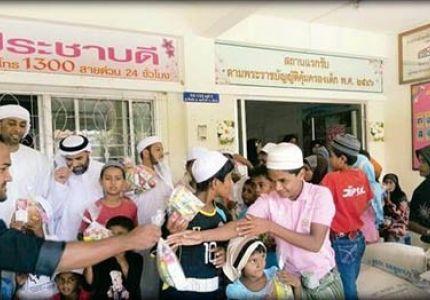 محسنون قطريون يقدمون مساعدات لمسلمي الروهنجيا بتايلاند