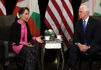 نائب الرئيس الأمريكي لزعيمة ميانمار: اضطهاد الروهينجا لا يغتفر