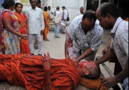 إصابة راهبين بانفجارات في الهند، واشتباه بصلتها بأحداث مسلمي بورما