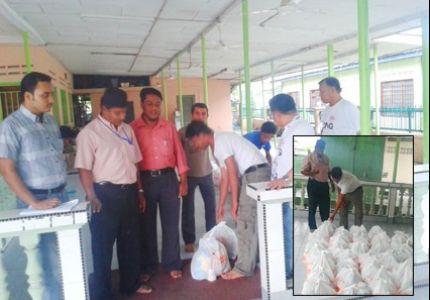 منظمة RARC توزع حصص غذائية على 80 أسرة روهنجية في ماليزيا