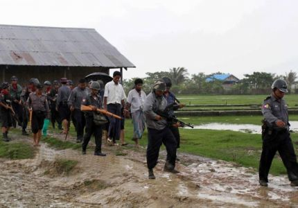 Army arrest and detain a Rohingya youth