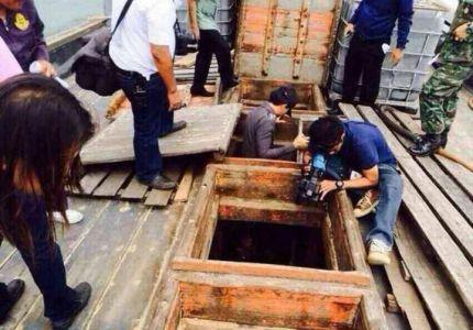 حرس حدود تايلاند تلقي القبض على 30 قارباً مخصصاً لبيع البشر بعد نقلهم من بورما