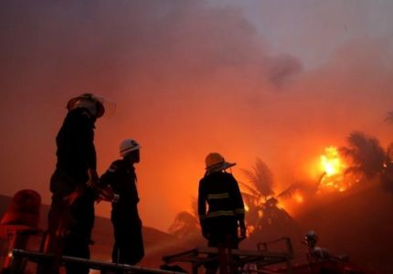 مقتل شخص في حريق دمر فندقا شهيرا في ميانمار