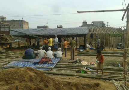 """مفوضية اللاجئين ومنظمة """"داجي"""" تمنحان أرضاً لبناء مخيم للاجئين الروهنجيين في الهند"""
