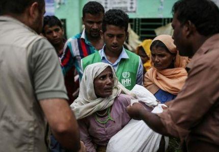 """""""الإغاثة التركية"""" توزع مساعدات على 45 ألفا من الروهنغيا ببنغلاديش"""