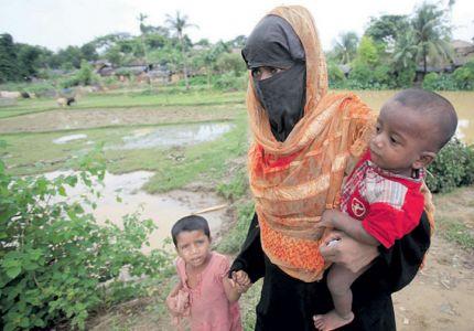 جيش بورما يعتدي على مسجد في أراكان ويهدم أسواره الخارجية