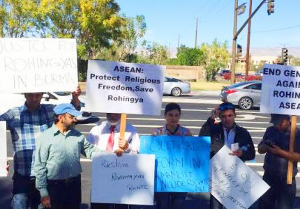 تظاهرات لنشطاء روهنجيين قبيل القمة الآسيوية في أمريكا