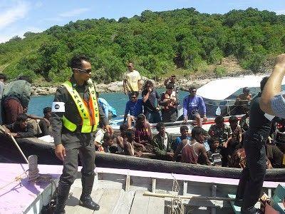 تايلند تعمل مع المنظمات الدولية لمساعد أكثر من 857 لاجئاً روهنجياً