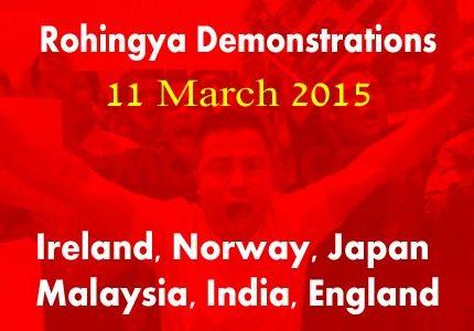 منظمات روهنجية تزمع إقامة مظاهرات يوم 11 مارس في عدد من دول العالم