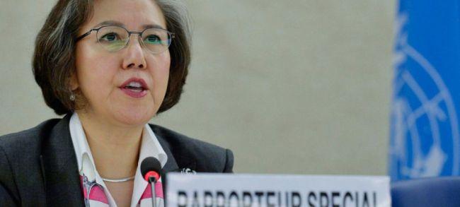 """مقررة الأمم المتحدة يانغي لي: """"من العار ألَا تفعل تلك الدول أيَ شيء أمام كل الأدلة التي لدينا"""""""