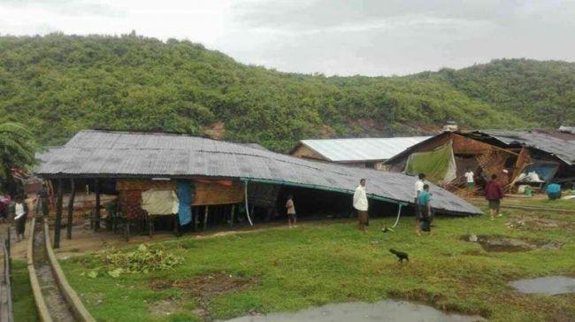 إعصار مورا يضرب ولاية أراكان بسرعة بلغت 120ميلا في الساعة