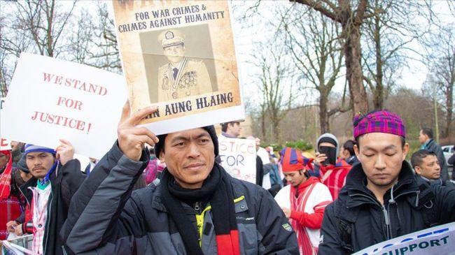 لاهاي.. تظاهرة أمام محكمة العدل الدولية دعما للروهنغيا