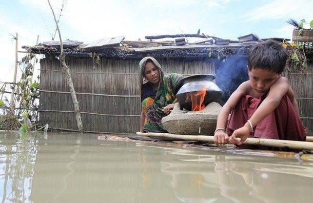 """طعام من أوراق الشجر لأطفال مسلمي """"بورما"""" في بنجلاديش"""