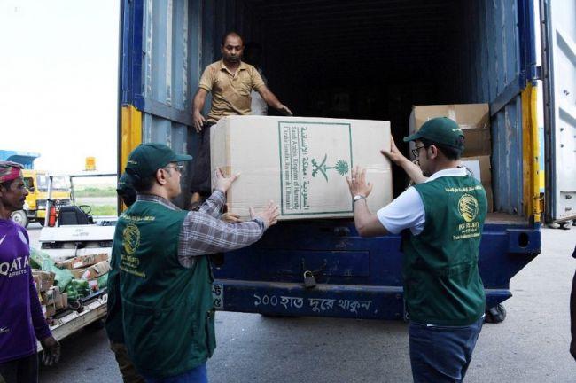 مركز الملك سلمان للإغاثة : وصول طلائع المساعدات العاجلة لمهجري الروهينجا في بنغلاديش