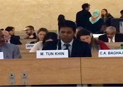 Rohingya Representative Briefed at United Nations in Geneva