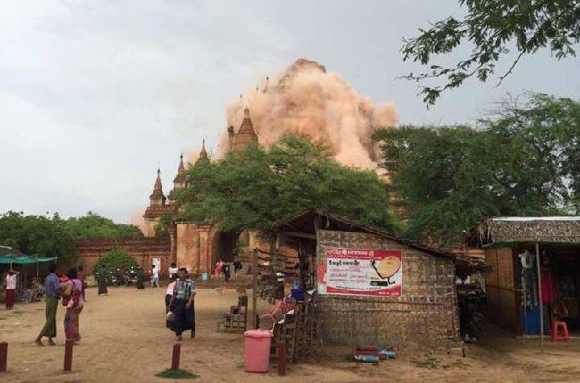 ضحايا وتضرر معابد بوذية في باغان جراء زلزال بورما