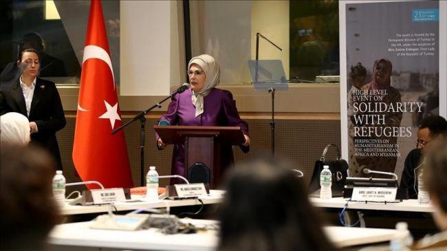 أمينة أردوغان: إيجاد حل دائم لأزمة أراكان مسؤولية إنسانية نتحملها جميعًا