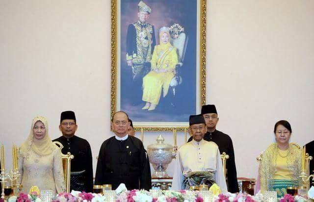 """استقبال حافل من ملك ماليزيا لرئيس بورما """"ثين سين"""""""