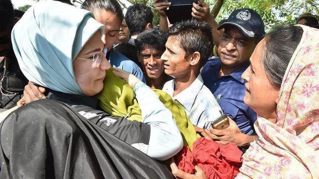 عقيلة أردوغان: انتظار العالم تركيا لحل أزمة ميانمار مقاربة ليست معقولة
