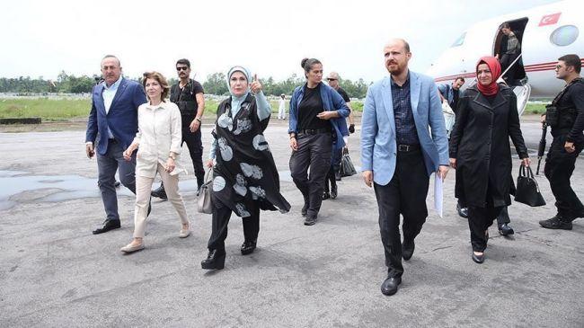 عقيلة أردوغان تصل بنغلاديش لزيارة إنسانية لمراكز إيواء لاجئي الروهنغيا المسلمين